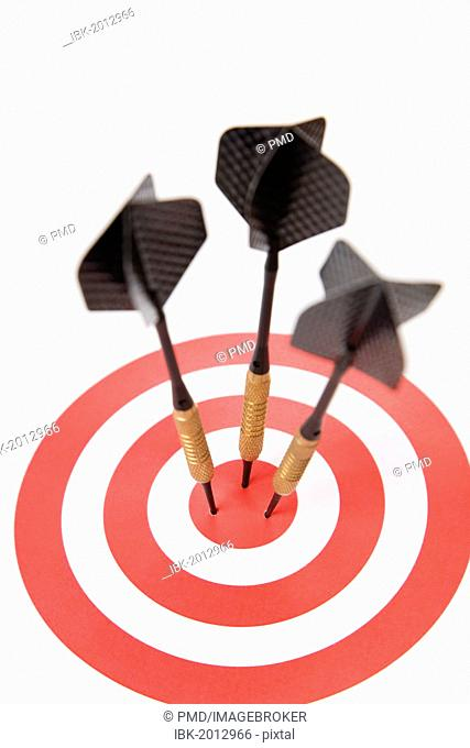 Three darts in a target