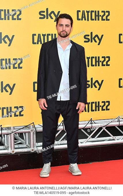 Roberto Oliveri during the Red carpet for the Premiere of film tv Catch-22, Rome, ITALY-13-05-2019