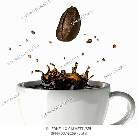 Cup of coffee, computer artwork