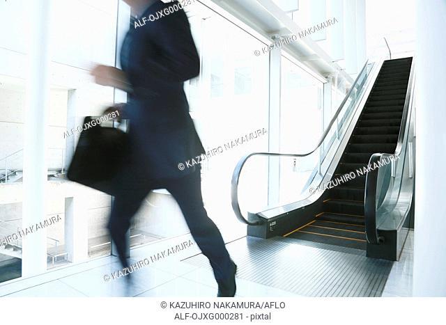 Caucasian businessman in modern office