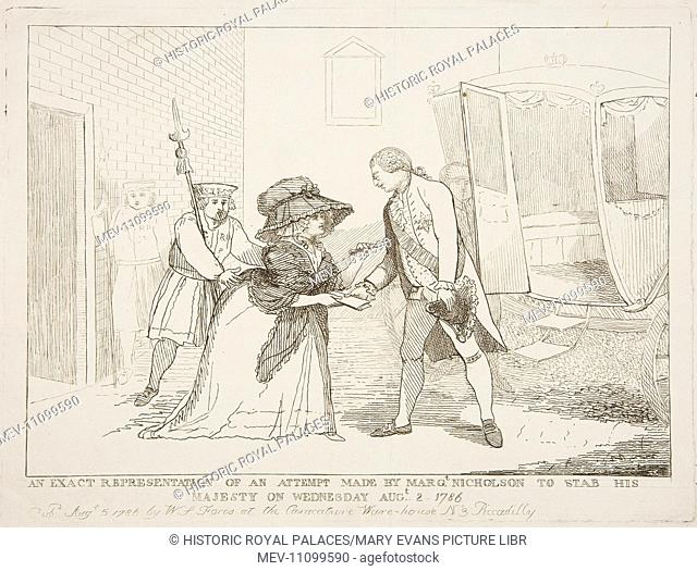 An assassination attempt on King George III by Margaret Nicholson, a former domestic servant. The attack was unsuccessful; Nicholson was seized immediately by...
