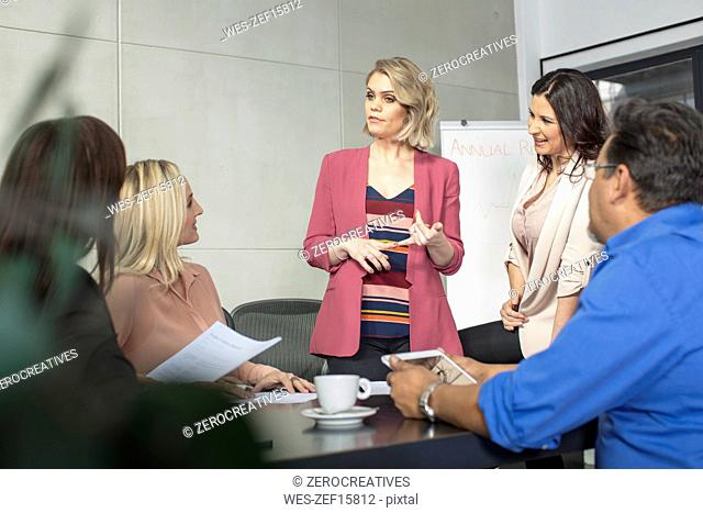 Businesswoman on a meeting in conference room