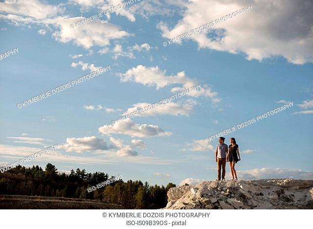Couple on cliff, Ottawa, Ontario