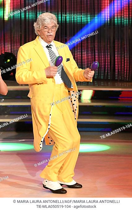 Antonio Razzi during the performance at the tv show Ballando con le stelle (Dancing with the stars) Rome, ITALY-04-05-2019