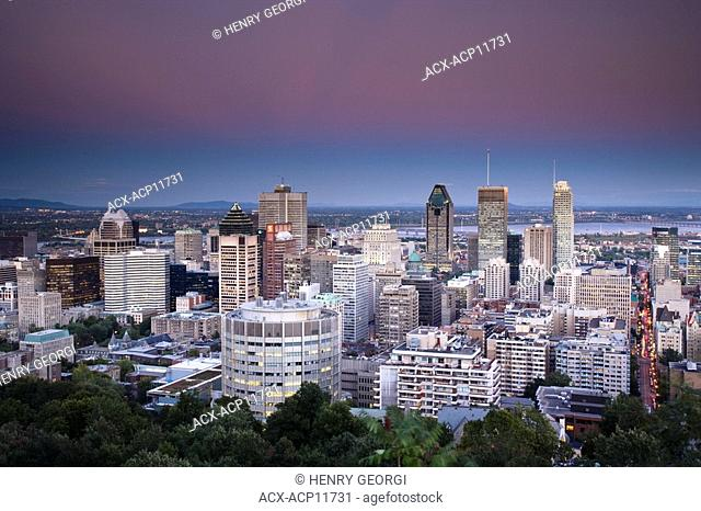 View of Montreal from Mont Royal, Montreal, Quebec, Canada