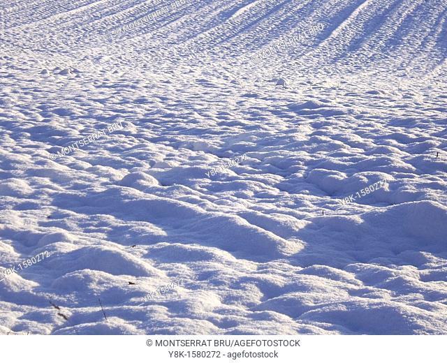 Snow furrows