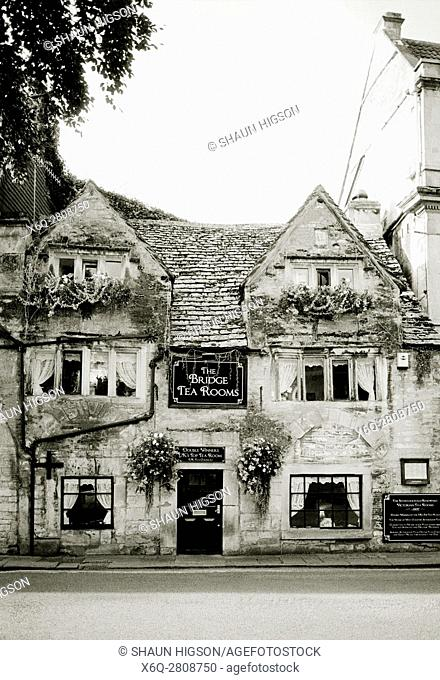 The Bridge Tea Rooms in Bradford on Avon in Wiltshire in England in Great Britain in the United Kingdom UK Europe
