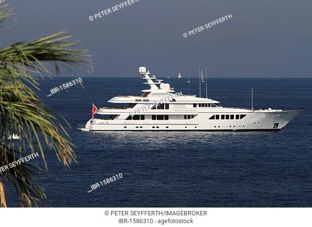 Motor yacht Kahalani, Feadship ship yard, length 55.05 meters, built in 2010, anchored at Cap Ferrat, Départment Alpes Maritimes