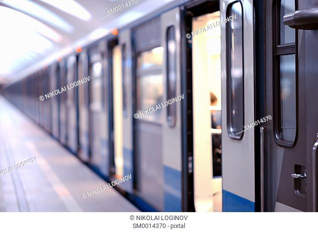 Moscow metro train background hd