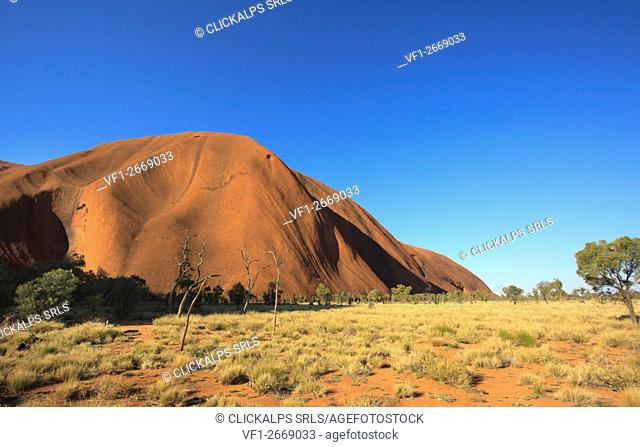 Uluru the famous rock formation in Northern Territory, Australia