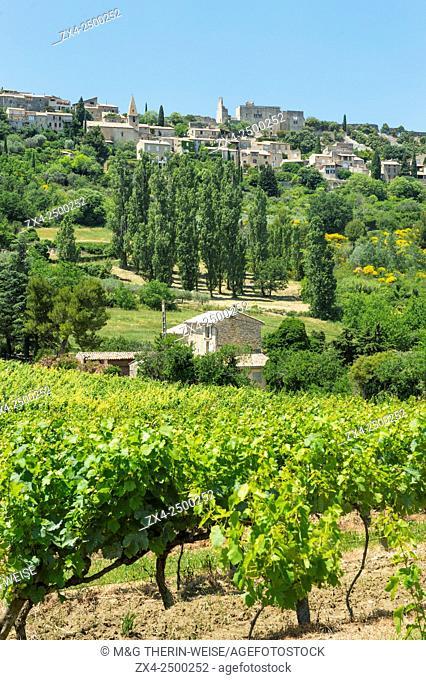 Le Crestet village, Vaucluse, Provence Alpes Cote d'Azur region, France