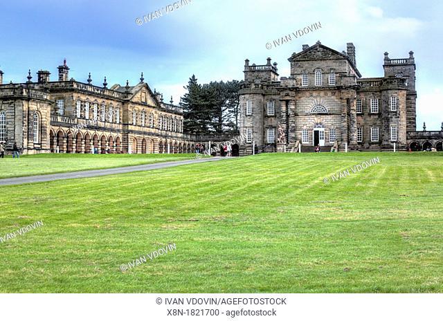 Seaton Delaval Hall 1728, Northumberland, England, UK