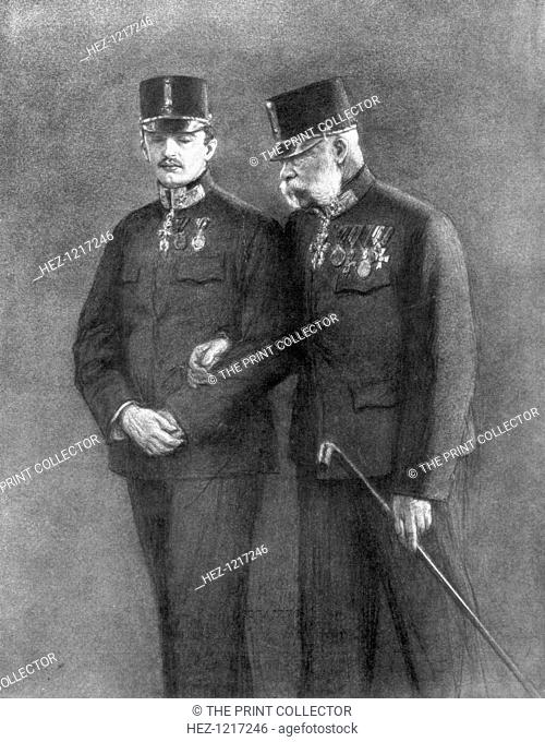 Emperor Franz Josef I of Austria and Archduke Karl Habsburg, (1926). Acting on the advice of his foreign minister, Leopold von Berchtold
