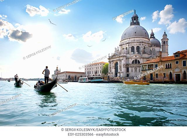 Old cathedral of Santa Maria della Salute in Venice, Italy