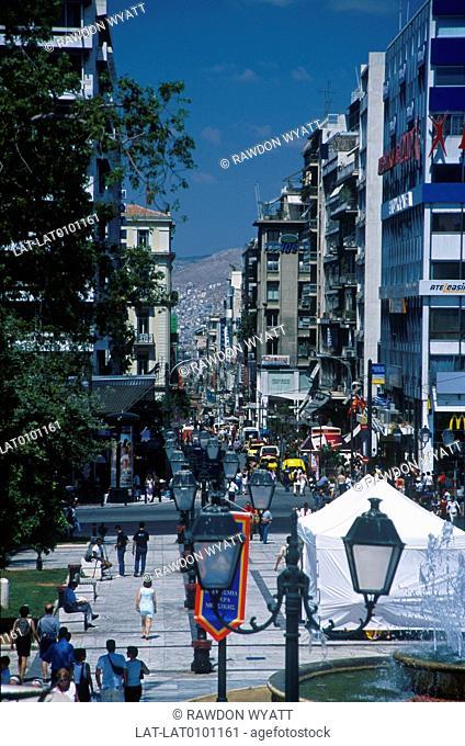 Syntagma,Syndagma square. View to Ermou