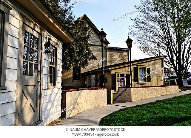 Peddler's Village curved street, , Lahaska, Bucks County, PA, USA