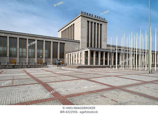 Fair building, main entrance built in 1937 an the Hall of Honour, architect Richard Ermisch, Nazi Monumental Building, Berlin, Germany