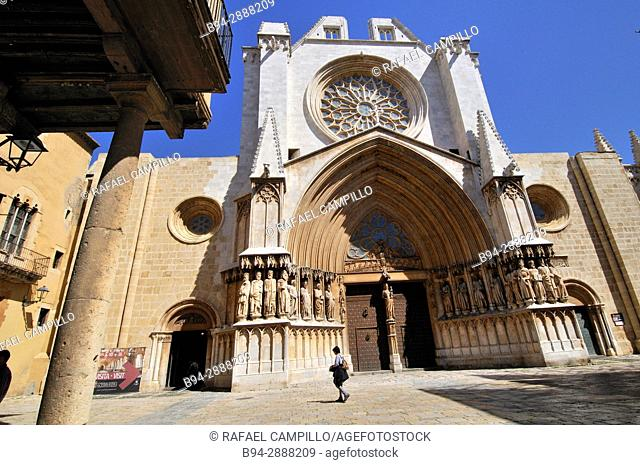 Cathedral of Tarragona, Roman Catholic church in Tarragona, Catalonia, Spain. The edifice is located in a site previously occupied by a Roman temple dating to...