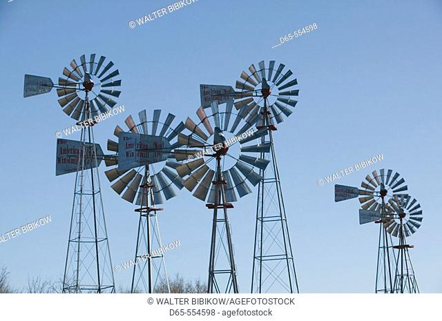 Historic Windmills. American Wind Power Center. Lubbock. Texas, USA