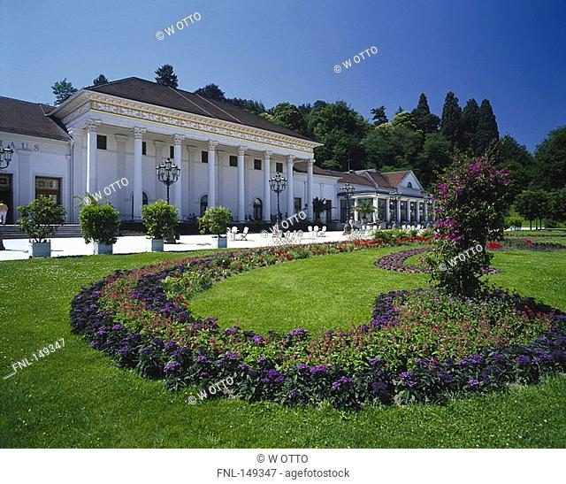 Garden in front of casino, Black Forest, Baden-Wurttemberg, Germany