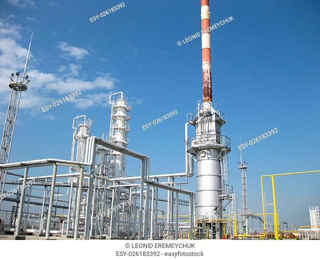 The oil refinery. Equipment for primary oil refining