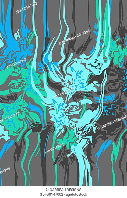 Abstract spilled paint design