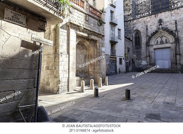 Ancient street, gothic quarter, Barcelona