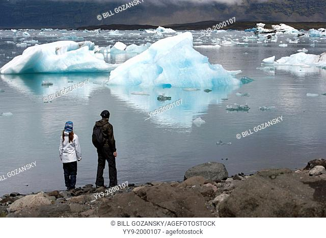 Jokulsarlon Glacier Lagoon on the border of Vatnajokull National Park - Southeast Iceland