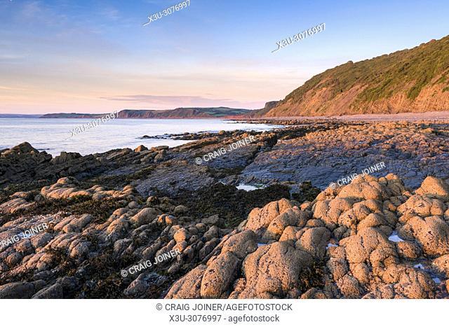 Buck's Mills beach on the North Devon Heritage Coast, England