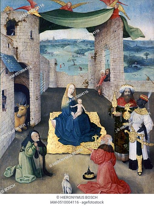 The Adoration of the Magi', c1490  Found in the collection of the Metropolitan Museum of Art, New York