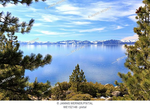 Landscape views on the shores of Lake Tahoe, USA