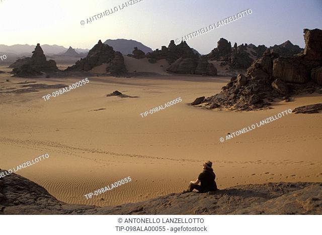 Libya, Jabal Akakus, rocks