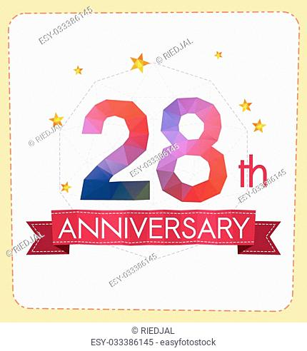 colorful polygonal number anniversary logo