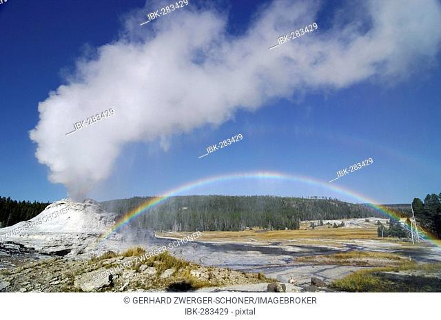 Castle Geyser, Yellowstone National Park, Wyoming, United States of America