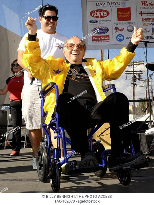 George Barris attends the 25th Annual Sherman Oaks Street Fair Featuring The Stray Cats' Lee Rocker in Sherman Oaks, California on October 18, 2015