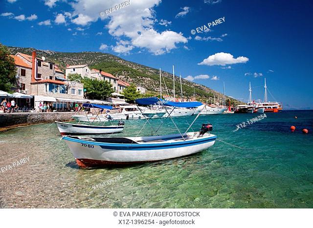The beach of Bol, in the island of Brac Croatia