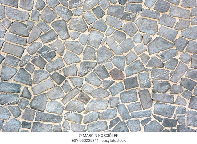 Gray sett bricks - texture or background, pavement