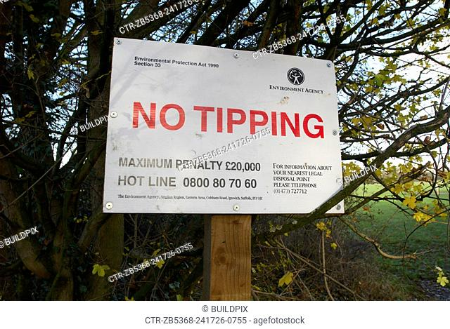 No tipping sign