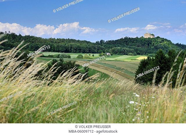 Castle ruin Landsee in the nature reserve Landseer Berge, Austria, Burgenland, market Saint Martin