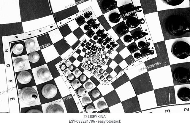 Digital generated image Looks like infinity chess game