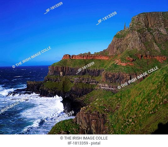 Rock formation, The Giant's Causeway, Co Antrim, Ireland