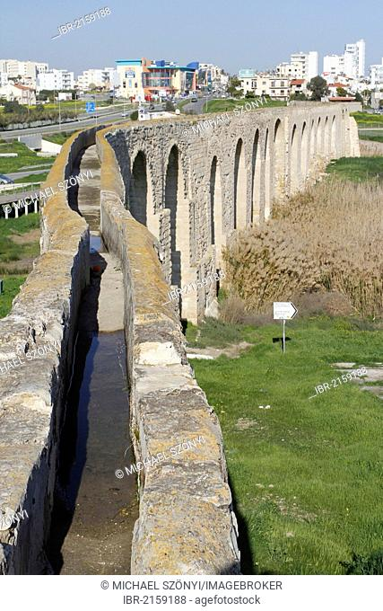 Historic Aqueduct of Kamares near Larnaca, Southern Cyprus, Cyprus, Greece, Europe