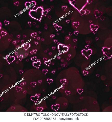 abstract valentine background with beauty bokeh