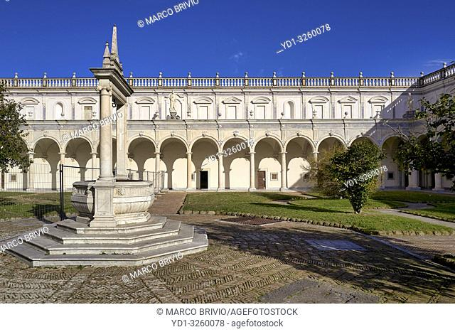 Naples Campania Italy. The Certosa di San Martino (Charterhouse of St. Martin) is a former monastery complex, now a museum, in Naples, southern Italy