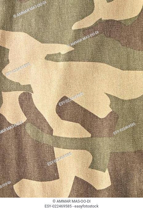Camouflage fabric background