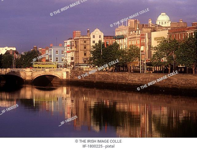 O'Connell Bridge crossing the River Liffey in Dublin, Ireland