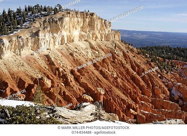 Pretty light on colorful rocks of Bryce Canyon National Park in Utah, USA
