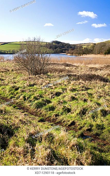 England Devon Torcross Slapton Ley with footpath