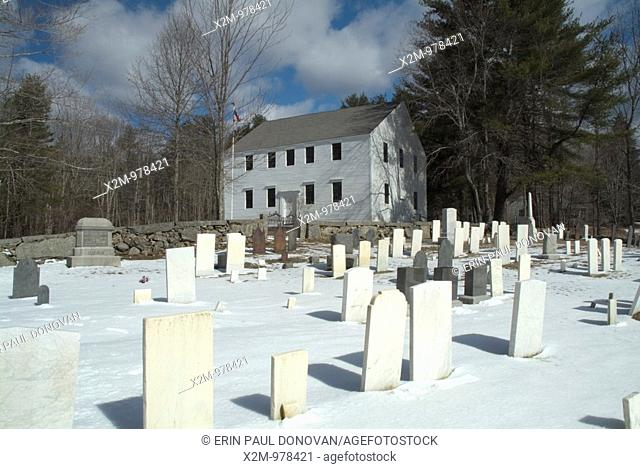 Hawke Meeting House was built in the early 1700's and is listed as New Hampshire's oldest meeting house in original condition  Located in Danville