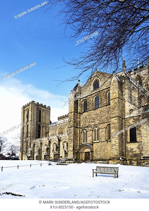 The Cathedral in Winter at Ripon North Yorkshire England